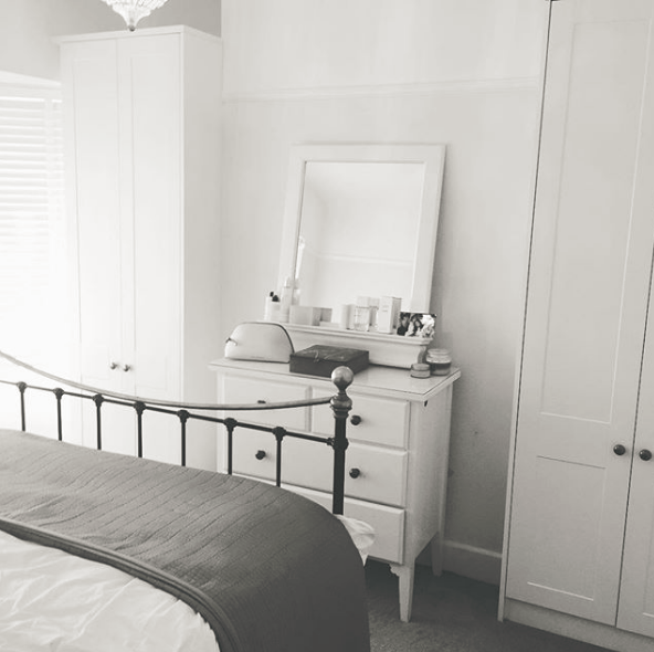 Calm and simple bedroom space